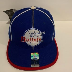 Reebok Baltimore Bullets Fitted cap color Blue Red